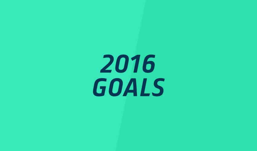 Image for 2016 goals blog