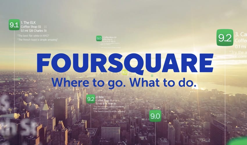 Still image from Foursquare campaign