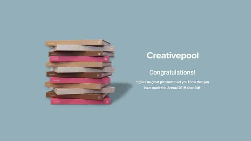 I got shortlisted for a Creativepool award!
