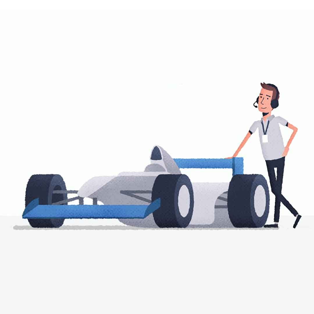 Still image from F1 Firsts animated explainer